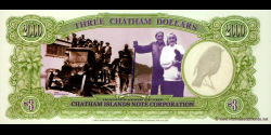 Chatham - Islands - pNL2 - 3 Dollars - 1999 - Chatham Islands Note Corporation