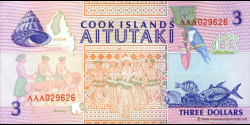 Cook - Islands - p07 - 3 Dollars - ND (1992) - Ministry of Finance