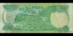 Fidji - p087 - 2 Dollars - ND (1988) - Reserve Bank of Fiji