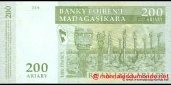 Madagascar - p87b - 200 ariary = 1.000 francs - 2004 - Banky Foiben'i Madagasikara