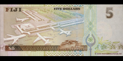 Fidji - p105b - 5 Dollars - ND (2002) - Reserve Bank of Fiji