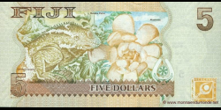 Fidji - p110a - 5 Dollars - ND (2007) - Reserve Bank of Fiji