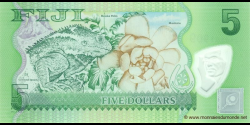 Fidji - p115 - 5 Dollars - ND (2012) - Reserve Bank of Fiji