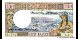 Nouvelles-Hébrides - p18d - 100 Francs - ND (1970 - 1977) - Institut d'Émission d'Outre-Mer