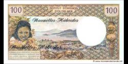 Nouvelles - Hébrides - p18d - 100 Francs - ND (1970 - 1977) - Institut d'Émission d'Outre - Mer / Nouvelles - Hébrides