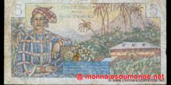 afrique - équatoriale - française - p20B - 5 francs - ND (1947) - Caisse Centrale de la France d'Outre - Mer