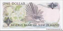 Nouvelle-Zélande - p169a - 1 Dollar - ND (1981 - 1992) - Reserve Bank of New Zealand