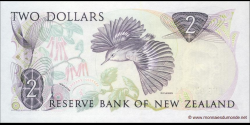 Nouvelle-Zélande - p170b - 2 Dollars - ND (1981 - 1992) - Reserve Bank of New Zealand