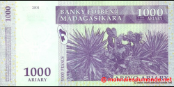 Madagascar - p89a - 1.000 ariary = 5.000 francs - 2004 - Banky Foiben'i Madagasikara