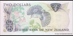 Nouvelle-Zélande - p170c - 2 Dollars - ND (1981 - 1992) - Reserve Bank of New Zealand