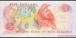 Nouvelle-Zélande - p171b - 5 Dollars - ND (1981 - 1992) - Reserve Bank of New Zealand