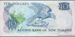 Nouvelle-Zélande - p172b - 10 Dollars - ND (1981 - 1992) - Reserve Bank of New Zealand