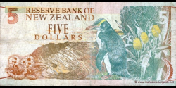Nouvelle-Zélande - p177 - 5 Dollars - ND (1992) - Reserve Bank of New Zealand