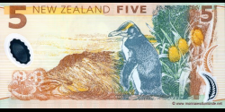 Nouvelle-Zélande - p185b - 5 Dollars - 2004 - Reserve Bank of New Zealand