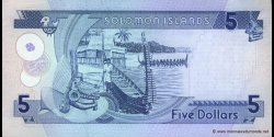 Salomon - p19 - 5 Dollars - ND (1997) - Central Bank of Solomon Islands