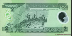 Salomon - p23 - 2 Dollars - 2001 - Central Bank of Solomon Islands