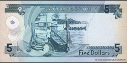 Salomon - p26a - 5 Dollars - ND (2004) - Central Bank of Solomon Islands