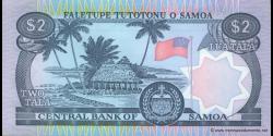 Samoa - p25 - 2 tala - ND (1985) - Faletupe Tutotonu o Samoa / Central Bank of Samoa