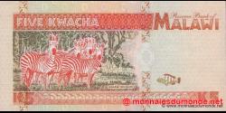 Malawi - p30 - 5 Kwacha - 01.06.1995 - Reserve Bank of Malawi