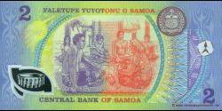 Samoa - p31e - 2 tala - 1990 - Faletupe Tutotonu o Samoa / Central Bank of Samoa