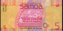 Samoa - p38a1 - 5tala - ND (2008) - Faletupe Tutotonu o Samoa / Central Bank of Samoa