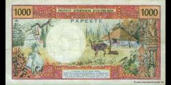 Tahiti - p27d - 1.000 Francs - ND (1985) - Institut d'Emission d'Outre - Mer