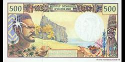 Territoires Français du Pacifique - p01b5 - 500 Francs - ND (1990 - 2012) - Institut d'Emission d'Outre - Mer