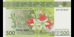 Territoires Français du Pacifique - p05 - 500 Francs - ND (2014) - Institut d'Emission d'Outre - Mer