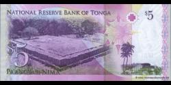 Tonga - p39a - 5Pa'anga - ND (2009) - Pangike Pule Fakafonua 'o Tonga / National Reserve Bank of Tonga