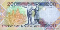 Vanuatu - p08a - 200 Vatu - ND (1995) - Reserve Bank of Vanuatu / Banque de Reserve de Vanuatu / Reserve Bank blong Vanuatu
