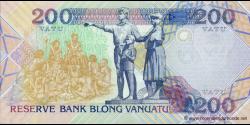 Vanuatu - p08b1 - 200 Vatu - ND (1995) - Reserve Bank of Vanuatu / Banque de Reserve de Vanuatu / Reserve Bank blong Vanuatu