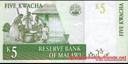 Malawi - p36a - 5 Kwacha - 01.07.1997 - Reserve Bank of Malawi