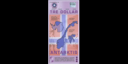 Antarctique - pNL07 - 3 Dollars - 14.12.2007 - Antarctica Overseas Exchange Office LTD