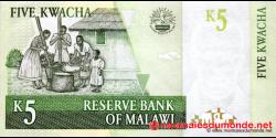 Malawi - p36b - 5 Kwacha - 01.03.2004 - Reserve Bank of Malawi