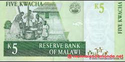 Malawi - p36c - 5 Kwacha - 01.12.2005 - Reserve Bank of Malawi