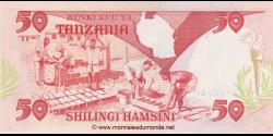 Tanzanie - p19 - 50 Shilingi - ND (1992) - Benki Kuu ya Tanzania