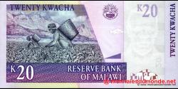 Malawi - p52b - 20 Kwacha - 31.10.2006 - Reserve Bank of Malawi