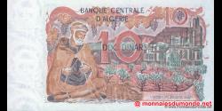 algérie - p127a - 10 dinars - 01.11.1970 - Banque Centrale d'Algérie
