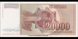 Yougoslavie - p095 - 20.000 Dinara / Dinarjev / Dinari - 01.05.1987 - Narodna Banka Jugoslavije / Narodna Banka na Jugoslavija