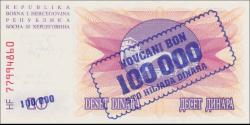 Bosnie Herzégovine - p034a - 100.000 Dinara - 1.09.1993 - Narodna Banka Bosne i Hercegovine