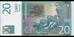 Yougoslavie - p154 - 20Dinara - 2000 - Narodna Banka Jugoslavije