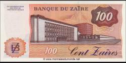 Zaire - p29b - 100 Zaïres - 30.6.1985 - Banque du Zaïre