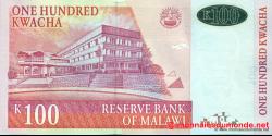 Malawi - p54a - 100 Kwacha - 31.10.2005 - Reserve Bank of Malawi