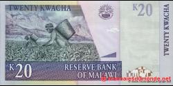 Malawi - p52c - 20 Kwacha - 31.10.2007 - Reserve Bank of Malawi