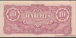 Japon - pM016a - 10 Roupies - ND (1942 - 1944) - Japanese Government