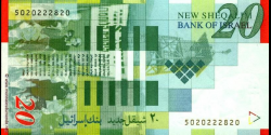 Israel - p59b - 20 New Sheqalim - 2001 - Bank of Israel