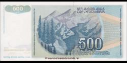 Yougoslavie - p106 - 500 Dinara / Dinarjev / Dinari - 01.03.1990 - Narodna Banka Jugoslavije / Narodna Banka na Jugoslavija