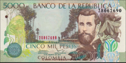 Billet de Colombie - Pick 452r - 5000 pesos - 2013