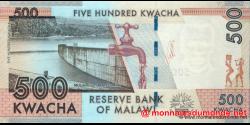 Malawi - p61a - 500 Kwacha - 01.01.2012 - Reserve Bank of Malawi