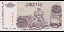 Bosnie Herzégovine - p155 - 500.000.000 Dinara - 1993 - Narodna Banka Republike Srpske